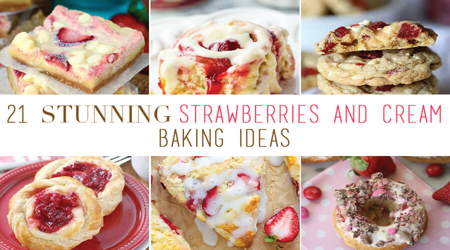 strawberries-and-cream-baking-ideas